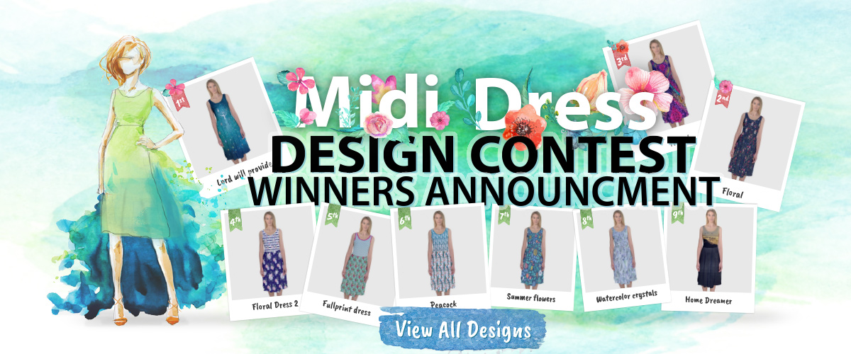 CowCow Midi Dress Design Contest 2016 - Winners Announcement